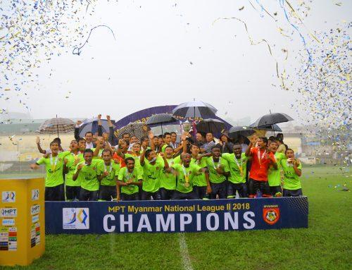 MPT Myanmar National League II 2018 အမွတ္ေပးေဘာလံုးၿပိဳင္ပြဲ ခ်န္ပီယံဆုဖလားအား ရိြဳင္ရယ္သန္လ်င္အသင္း ဆြတ္ခူး
