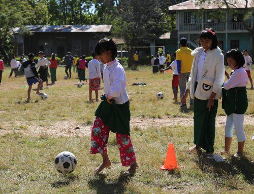 ေတာင္ႀကီးၿမိဳ႕ရွိ အေျခခံပညာေက်ာင္းမ်ားတြင္ MPT – MFF – MNL Football Basic Skill Educating Program သြားေရာက္ျပဳလုပ္